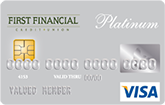 image of First Financial Platinum Visa Credit Card